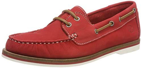 Tamaris Damen 1-1-23616-22 601 Sneaker Rot (Red Nubuc 601), 39 EU -