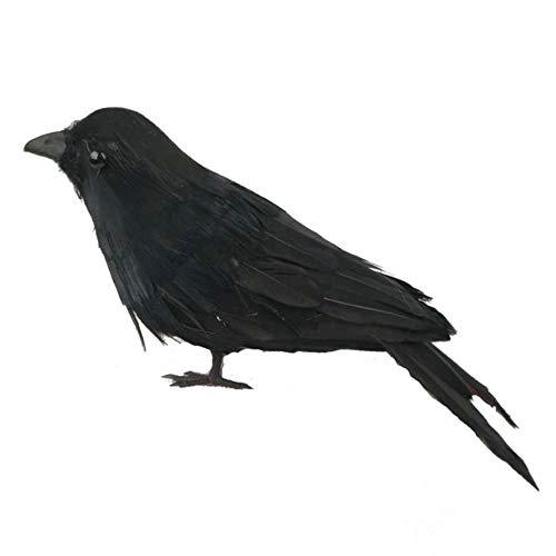 LIUSHUNBAO, Crow Props Halloween Lawn Vivid Gefiederter Vogel Realistischer Garten Jagdzubehör Simulierte Crow Farm Ornamente Jagdattrappe