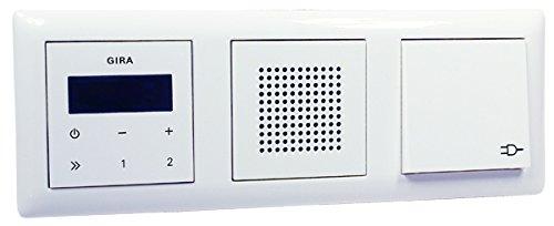 Gira Unterputz-Radio RDS Lautsprecher - Rahmen - Steckdose - reinweiß glänzend