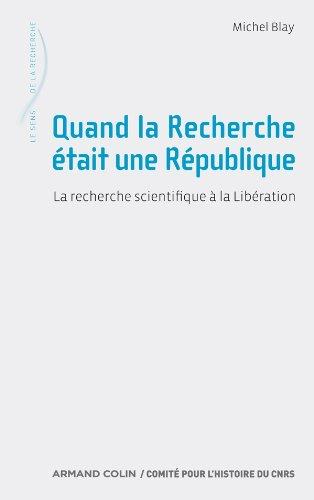 Quand la Recherche était une République PDF