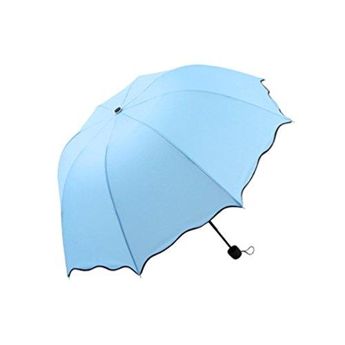 Goosun Regen Regenschirm, Einfarbig Automatik Taschenschirm Schirm Damenschirm Falten Kuppel...