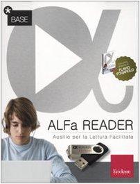 Alfa reader base (kit: libro e chiavetta usb). ausilio per la lettura facilitata. lettore vocale