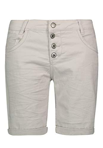 Urban Surface Damen Bermuda Shorts   Bequeme Kurze Stoffhose aus Stretch-Twill - Loose Fit Light-beige L