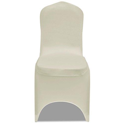 Festnight 50 pz coprisedia elasticizzata crema