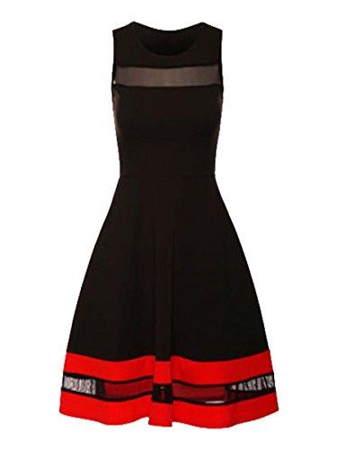 celebrity-paris-hilton-inspired-black-red-black-white-mesh-insert-contrast-skater-dress-uk-18-eu-46-