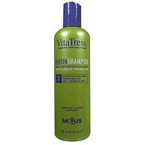NEXXUS Vita Tress Biotin Shampoo Nutrient Rich Formulation for Fragile & Thinning Hair 10.1oz/300ml - Pack of 2 by Nexxus