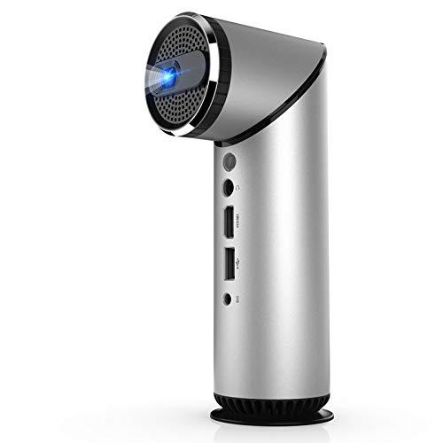 Lxopen Mikroprojektor, Miniprojektor, Unterstützung USB, 1080P, HDMI, intelligentes HD-Heimkino, Büro (schwarz) -