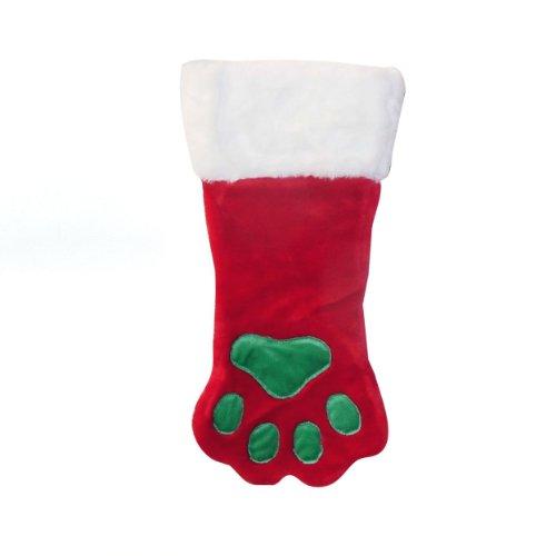Outward Hound Christmas Paw Dog Calza Natale Vacanza e Accessori per Cani, Rosso