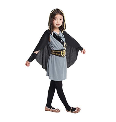 XIAOKEAI Kind Cosplay Performance-Kleidung Mittelalter ElfenschüTze Hunter Umhang, Kleid, Anzug BüHnenkostüM Retro Kleid Gesetzt