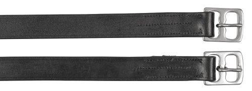 Kerbl Correa para estribos, 145 cm, negro, embalada