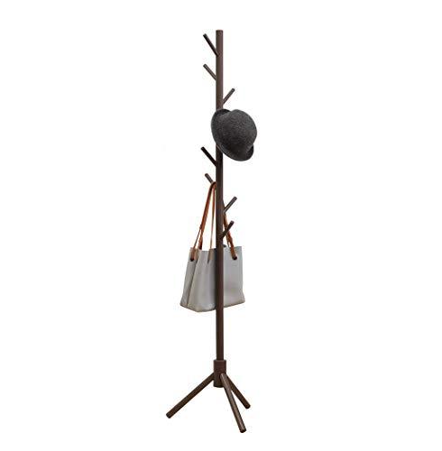We supporto per espositore a forma di albero in legno a forma di appendiabiti con 8 ganci e piedini solidi per abiti sciarpe e cappelli