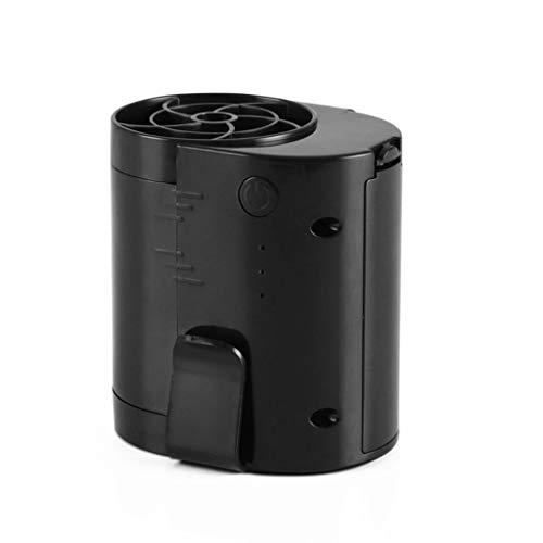 COOLERFANS Hängende Taille Fan, USB Wiederaufladbare Große Wind Tragbare Outdoor Befreiende Hände Kleine Elektrische Fan-Clip (Farbe : Schwarz) -