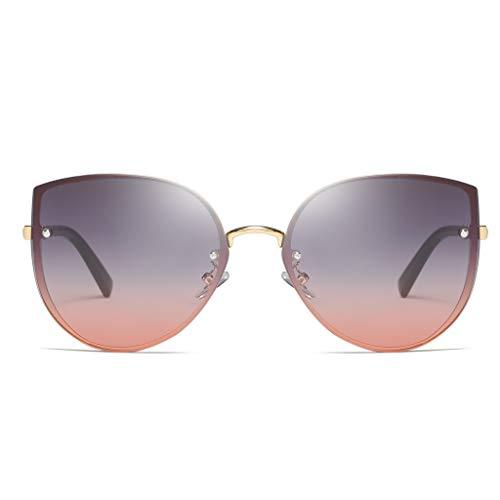 Morran Sonnenbrille Damen Verspiegeltmit Sonnen Brillen Große Mode Brillen Polarisierter Schutz Vintage Retro Style Unregelmäßige