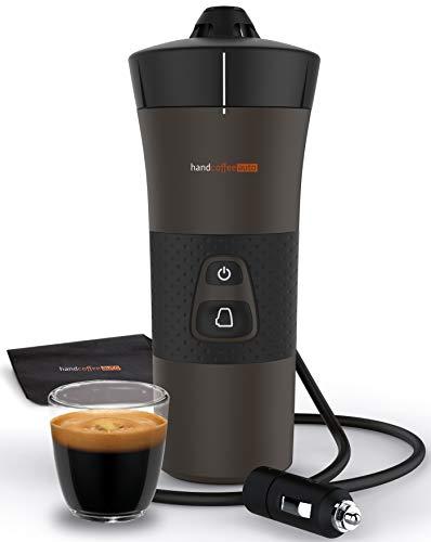 Handpresso 48264 Handcoffee Auto 12V (Zigarettenanzünder) schwarz - tragbare Espressomaschine für Senseo Pads