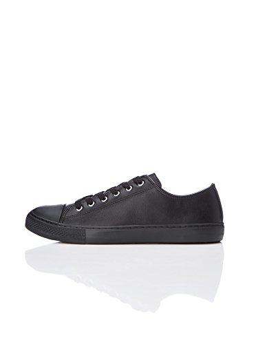 FIND Sneaker Damen mit Retro-Design und Rutschfester Gummisohle, Schwarz (Black), 40 EU (7 UK)