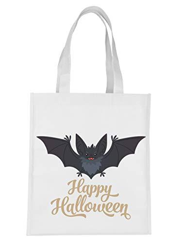 clothinx Einkaufstasche Halloween Grusel Fledermaus Happy Halloween -