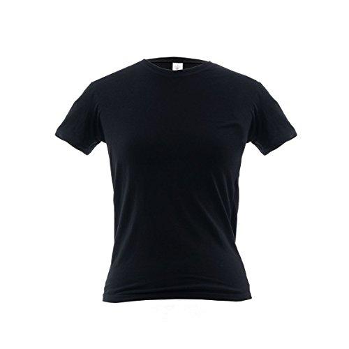 BC Damen TShirt ohne Werbeanbringung, Rundhals, figurbetont, Baumwolle  Schwarz