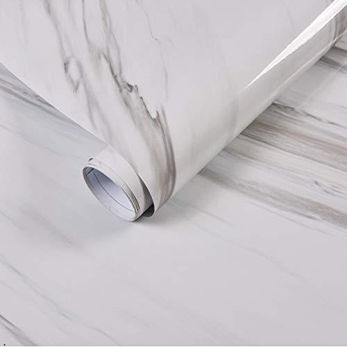 fenjinsheng Fliesenaufkleber 60X300Cm Marmor Wandaufkleber PVC Selbstklebende Tapete Bad Wasserdicht Möbel Renovierung Küchenarbeitsplatten Kontakt Papier