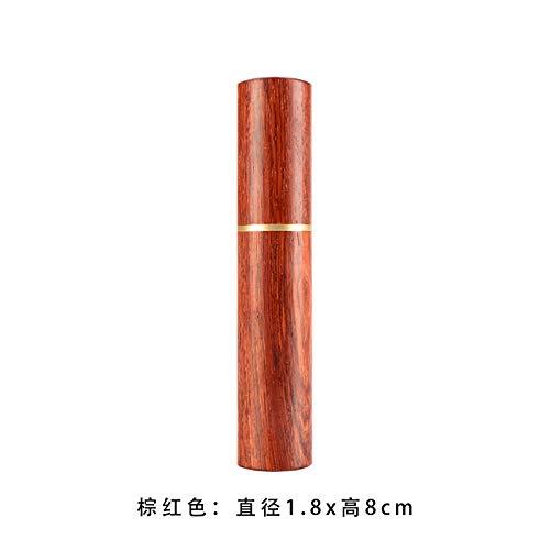 Isolierflaschen Cocktail Sticks Roter Zahnstocherhalter aus Palisander. Tragbares Reise-Zahnstocherglas mit roter Zahnstocherdose aus Redwood -