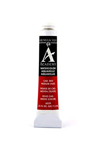 atercolor Paint 7.5ml Tube, Cadmium Medium Hue (A029) by Grumbacher ()