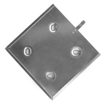 Wechselrahmen für Gefahrzettel Gefahrgutkennzeichen aus Stahlblech mit Metallfeder zur Sicherung 300x300 mm