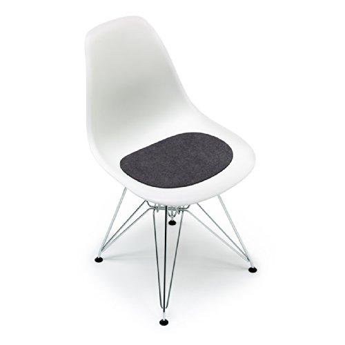 Hey Sign - Filz-Auflage Eames Plastic Side Chair, anthrazit 5mm AR, mit Antirutsch-Beschichtung