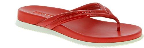 Prada Damen 3Y6005oygf0011 Rot Leder Flip-Flops