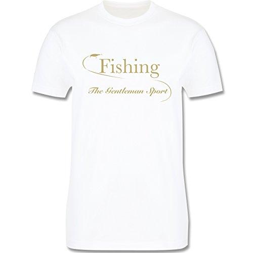 Angeln - Fishing - The Gentleman Sport - Herren Premium T-Shirt Weiß