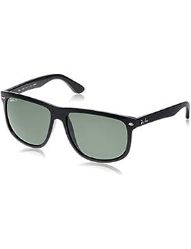 Ray-Ban - Gafas de sol Rectangulares Rb4147 para hombre, Black Frame/Crystal Green Lens