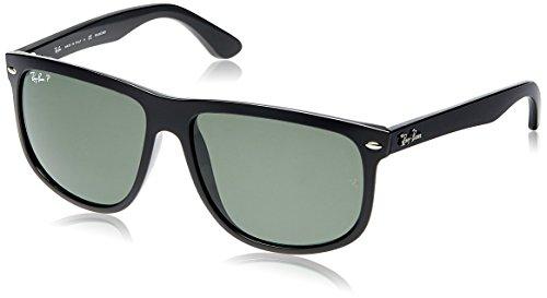 Ray-Ban Herren Rb4147 Rechteckig Sonnenbrille, Black Frame/ Crystal Green Lens