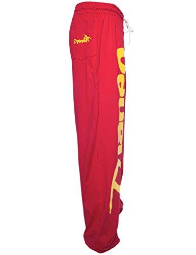 Pantalon Jogging Djaneo Rio Coton. Homme et Femme (plus de 30 couleurs disponible) Rouge et Jaune