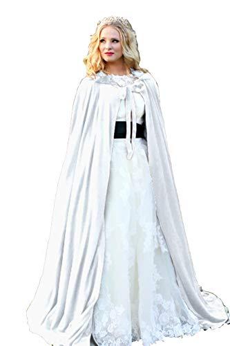 (ShineGown Damen Kapuzen Braut Cape SAMT Lange Hochzeit Wraps Bride Mantel Jacke Weihnachten Mäntel Halloween Kap Fluwelen Wicca Robe Vampir Schal Cosplay Partei Heks Kostüm)