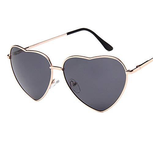 Haodou Metallrahmen Herzförmige Sonnenbrille Frauen Herz Klar Party Sonne Gläser Für Frauen UV400...