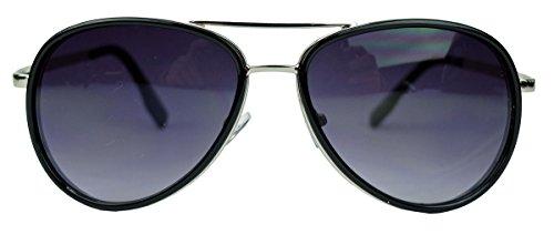 trendige-sonnenbrille-fur-herren-u-damen-pilotenbrille-mx2-schwarz-silber