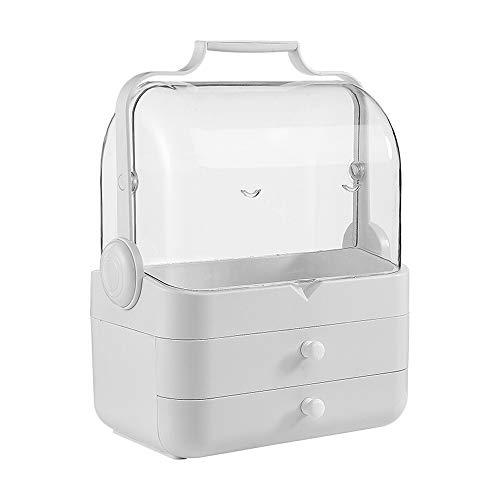 Xiaoxiao Kosmetische Aufbewahrungsbox - ABS-Material, tragbares wasserdichtes und staubdichtes Öffnen und Schließen, abnehmbar, Schlafzimmer-Wohnzimmer-Badregal - 2 Farben optional Kosmetischer Aufbew -