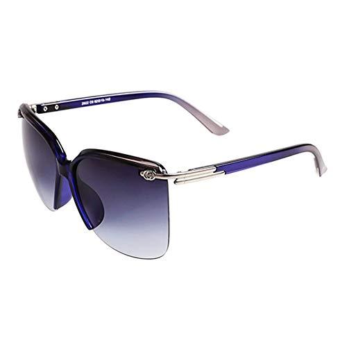 Yuany Sonnenbrille Goggle Driving Brille MS Half Frame Gradient Classic Retro Polarized Light Sonnenschutz Anti-UVA Anti-UV 100% (Farbe: Blau)