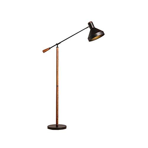 FGLDD Lampadaire noir salon minimaliste canapé lampadaire chambre chevet bureau d'étude de la lampe verticale taille: 25 * 150cm