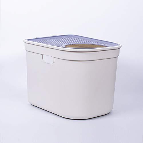 RRCT-Cat Toilet Katzentoilette, Geschlossenes Splash Prävention Desodorierung Top Eintrag Katzentoilette (Color : 3, Size : L)