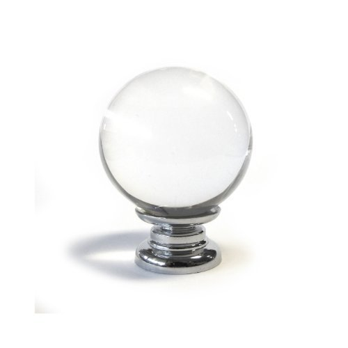 medium clear round crystal glass cupboard door knob drawer pull cabinet handle kitchen furniture by Pushka Knobs
