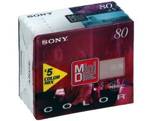 Sony MDW-80PR MiniDisc Premium (80 Minuten) 5er-Pack