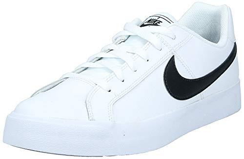 Nike Mens Court Royale AC Sneaker, White/Black, 44 EU