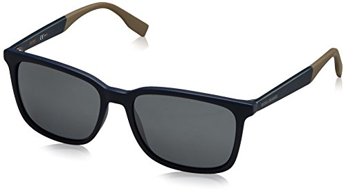 Boss orange bo 0263/s 9y gt6, occhiali da sole uomo, blu (bluette blueebei/grey fl slv), 55