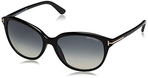 Tom Ford Damen FT0329 01B 57 Sonnenbrille, Schwarz (Nero Lucido/Fumo Grad),