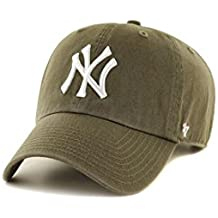 Gorra 47 Brand – Mlb New York Yankees Clean Up Curved V Relax Fit caqui 175abfc3ff1
