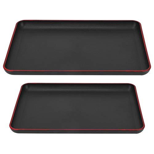 Kunststoff Acryl Rechteck Serviertablett, japanische Art Griffige Lebensmittel Serviertablett Platte für Restaurant Home Hotel(#3)