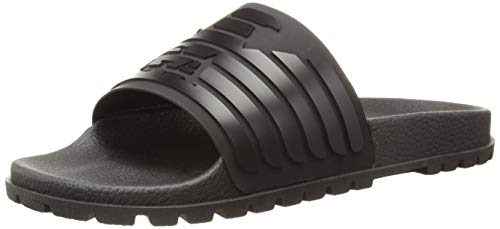 Emporio Armani EA7 X 4P077 Flip Flop Slides - Black 6 Black