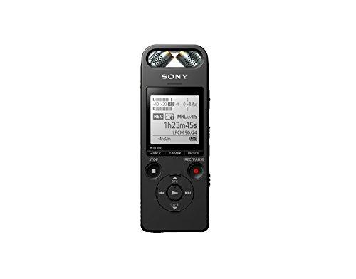 Sony ICD-SX2000 Diktiergerät & Hi-Res Music Recorder (16GB Speicher, 3-Wege-Mikrofon, Micro SD Slot, USB, FLAC) schwarz (Sony Diktiergerät)
