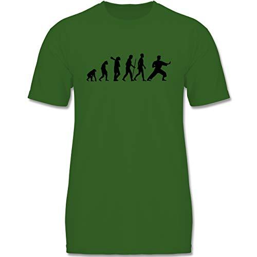 Evolution Kind - Kampfsport Evolution - 152-164 (12-14 Jahre) - Grün - F140K - Jungen T-Shirt