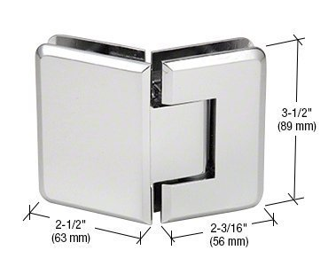CRL Pinnacle 045 Series Chrome 135º Glass-To-Glass Standard Hinge by C.R. Laurence -