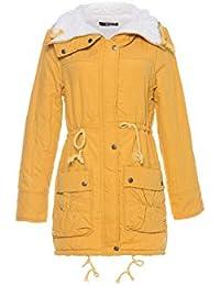 Frauen warme Wolle mit Kapuze Lammfell Langen Baumwollmantel Damen dicken  Parka Mantel Winter Outwear Mantel lässig 617f6b408e